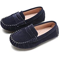 Battle Men Little Kids Penny Loafers Flat Heel Slip On Toddler's Shoes For Boys & Girls Causal Comfortable