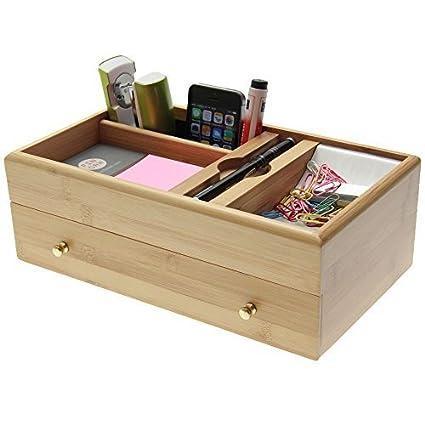Mesa Organizador Escritorio Box Butler Office de bambú (Oficina ...