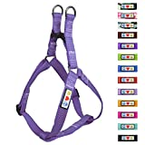 Pawtitas Reflective Step In Dog Harness or Reflective Vest Harness, Comfort Control, Training Walking of your Puppy/Dog Extra Small Dog Harness XS Purple Orchid Dog Harness