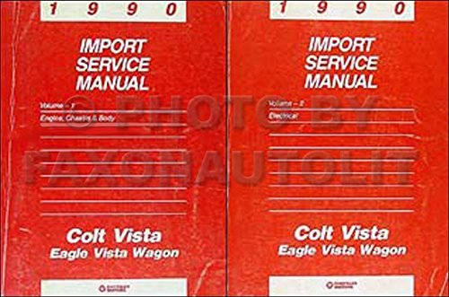 Vista Colt Wagon Dodge (1990 Colt Vista & Eagle Vista Wagon Repair Shop Manual Original 2 Volume Set)