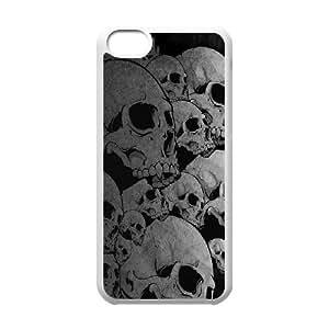 Classic Case Skull pattern design For Apple iPhone 5C Phone Case