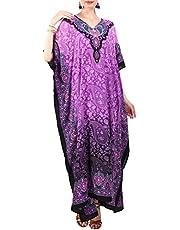 Miss Lavish London Women Kaftan Tunic Kimono Free Size Long Maxi Party Dress for Loungewear Holidays Nightwear Beach Everyday Cover Up Dresses #101
