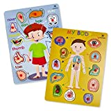 Wooden Peg Puzzle, My Body - Inside & Outside Parts - Pack of