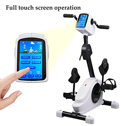 Electronic Physical Therapy Rehab Training Equipment Cycle Arm Leg Pedal Exerciser Bike Health Recovery Pedal exerciser With 7inch Display Touchscreen for the Handicap Disabled and Stroke Survivor TM