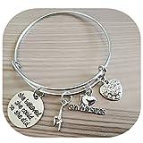 XMNDS Best Friends Bracelets- Not Sisters By Blood But Sisters By Heart Bracelet- Friend Jewelry for Friends