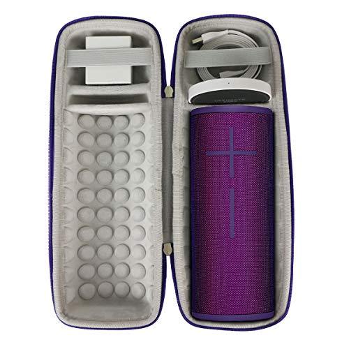 Khanka Hard Travel Case for Ultimate Ears UE MEGABOOM 3 Portable Bluetooth Wireless Speaker (Purple)