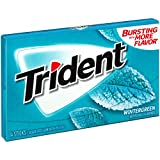 Trident Wintergreen Sugar Free Gum, 12 Packs of