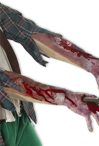 [Bloodly arm sleeves with scars] (Zombie Arm Sleeves)