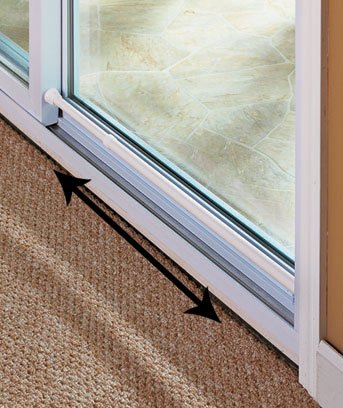 Sliding Glass Door Security Bar White Color - Feel Safe At Home with These Adjustable Home Security Bar 1-1/2'' Dia. X 20-1/4'' to 41'' by SECURITY DOOR BAR