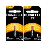 2PC DURACELL A27 12V Alkaline Battery for Watches, Keyless Entries, and Electronics (MN27BPK)