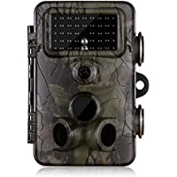 Trail Camera&Hunting Wildlife Game Cam, Gosira Viewer 12MP 1080P HD Infrared Night Vision with Mount Lock IP66 Waterproof for Hunting