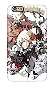 Rugged Skin Case Cover For Iphone 6- Eco-friendly Packaging(clocks Pixiv Creatures Anime Boys Claws Manabi Bats)
