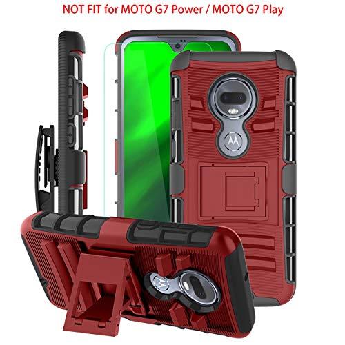 - BEBEST-Moto G7 Case,Moto G7+ Plus Case w/Screen Protector&Kickstand&Belt Clip[Hybrid Dual Layer][Shockproof Bumper] Rugged Heavy Duty Full Body Armor Protective Phone Case for Motorola G7 6.2