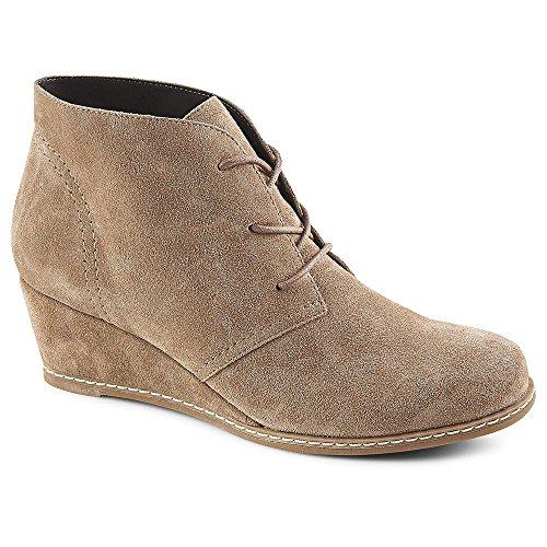 omens Rachel Wedge Heel Chukka Bootie Shoes, Taupe, US 7.5 ()