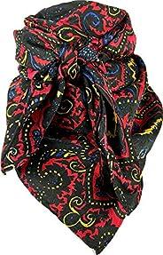 Wyoming Traders Paisley Silk Wild Rag Red/Yellow