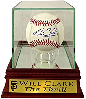 """SF Giants Will Clark Autographed Official MLB Baseball w/ Customized """"The Thrill"""" Case (COA)"""
