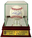 "SF Giants Will Clark Autographed Official MLB Baseball w/ Customized ""The Thrill"" Case (COA)"