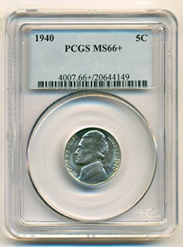 1940 Jefferson Nickel (1940 Jefferson Nickel MS66+ PCGS)