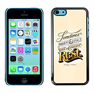 """For Apple iPhone 5C Case , Resto Oro Urgente Vintage Retro Vital"""" - Diseño Patrón Teléfono Caso Cubierta Case Bumper Duro Protección Case Cover Funda"""