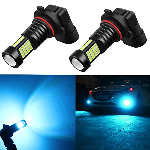 Alla Lighting 2000 Lumens High Power 3030 36-SMD Extremely Super Bright 8000K Ice Blue 9006 HB4 LED Bulbs for Fog Driving Light Lamps Replacement