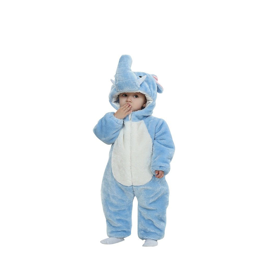 6b988b04e Amazon.com: Lovelfly Baby Cute Boy & Girl Elephant Onesie Costumes/Sleepsuit:  Clothing
