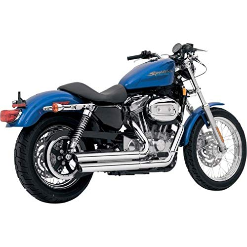Vance and Hines Double Barrel Staggered Chrome Full System Exhaust for Harley D - One Size