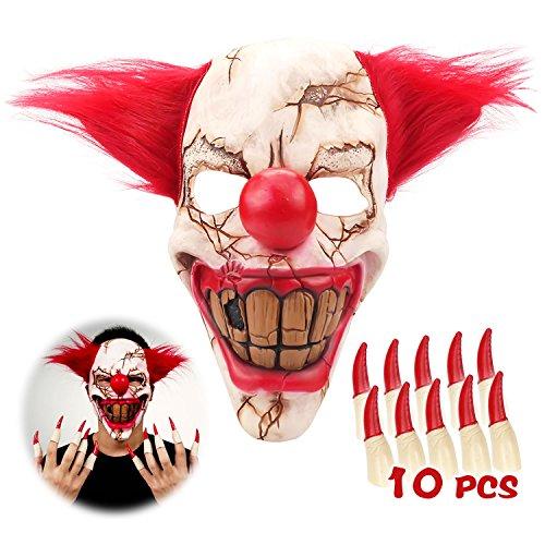 Clown Mask for Halloween (Halloween Broken Nails)