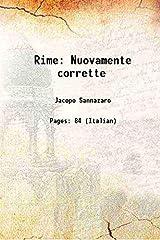 Rime Nuovamente corrette 1719 [Hardcover] Hardcover