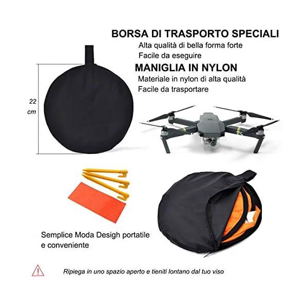 LVHERO Drone Landing Pad, Landing Pad Pieghevoli Portatili Impermeabili Universali D 55cm per Elicotteri RC Drones, Droni PVB, DJI Mavic PRO Phantom 2/3/4 / PRO, Antel Robotic, 3DR Solo 2 spesavip