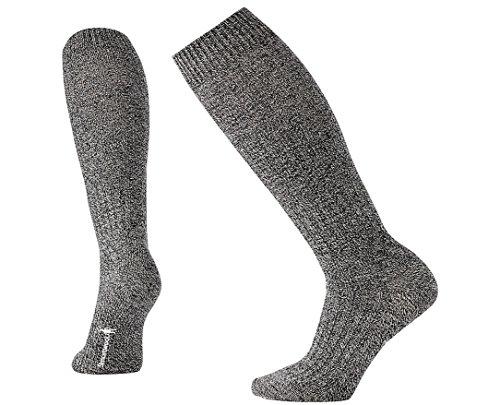 Smartwool Women's Wheat Fields Knee High Socks (Charcoal Heather/Winter White) Small