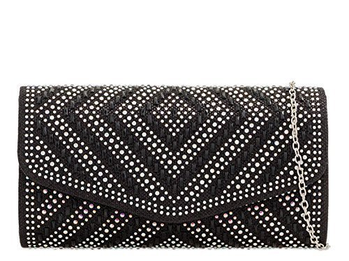 Bag Haute Haute Champagne For Black Ladies For Diamante Clutch Diva 0aS54q