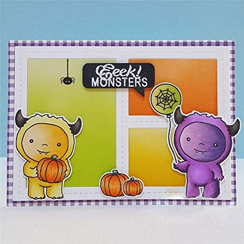 MeikoTan 1 Set Monster Pumpkin Halloween Metal Cutting Dies and Stamps for Scrapbooking New 2019 Crafts Die Cuts Card Making Album Embossing]()