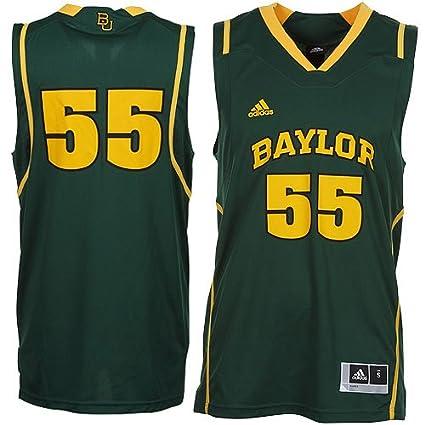09fb43d1ffe Amazon.com : NCAA adidas Baylor Bears #55 Replica Basketball Jersey - Green  (Medium) : Sports Fan Jerseys : Sports & Outdoors