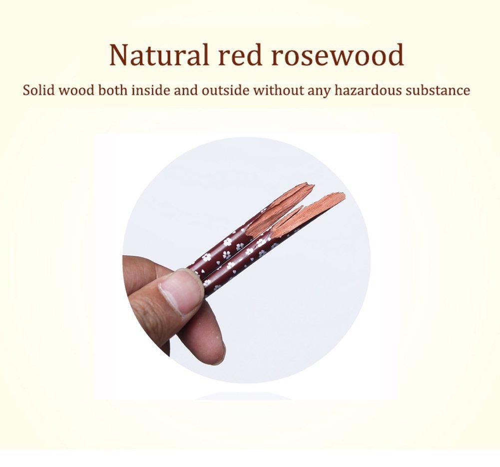 Amazon.com: HuaLan Juego de palillos de madera natural ...