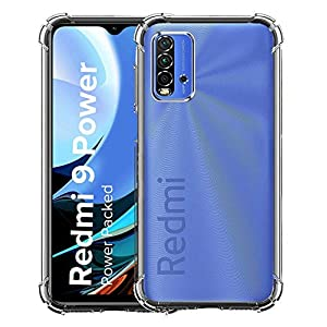 CELLUTION Anti Drop Shockproof with Bumper Corners with Air Cushion Technology TPU Back Cover Case for Xiaomi Redmi 9…