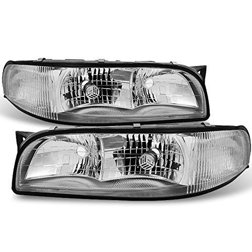 Buick LeSabre Clear Headlights Head Lamps Driver Left + Passenger Right Side Replacement Pair Set - Buick Lesabre Headlight Assembly