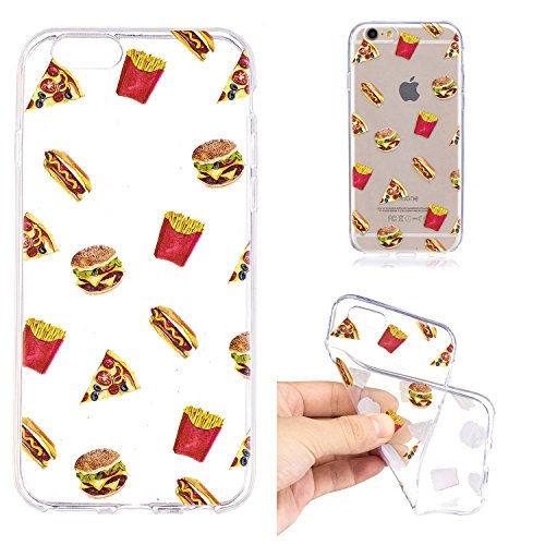 iPhone 6 6S Custodia , Leiai Moda Cibo Silicone Morbido TPU Cover Case Custodia per Apple iPhone 6 6S