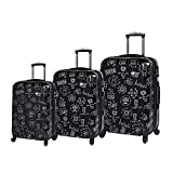 Mia Toro ITALY Love This Life-Medallions Hardside Spinner Luggage 3 Piece Set [20'', 24'' & 28'']