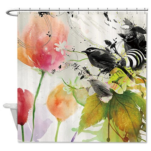 hanhaoki-floral-and-birds-painting-print-fabric-shower-curtain-waterproof-polyester-bathroom-curtain