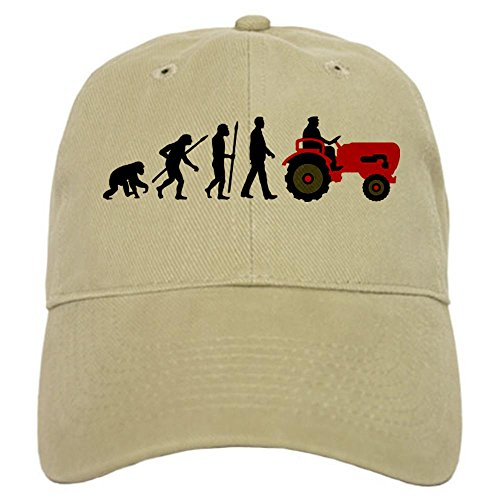 CafePress evolution tractor Baseball Adjustable