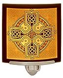 Celtic Cross - Curved Porcelain Lithophane Night Light