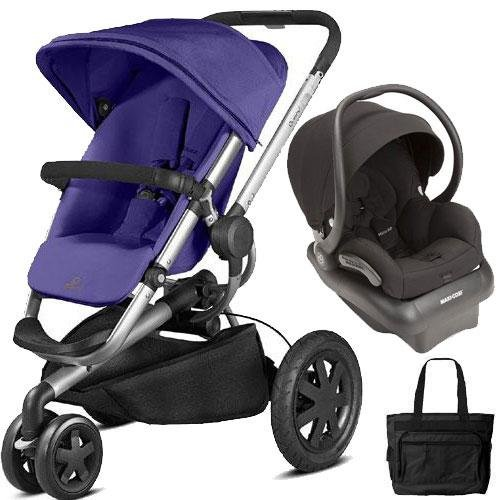 Quinny - Buzz Xtra Travel System with Bag - Purple and ()