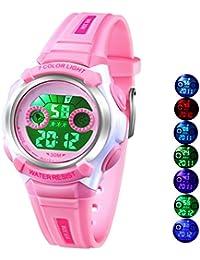 Multi Coloured Lights Time Teacher Watch for Girls...