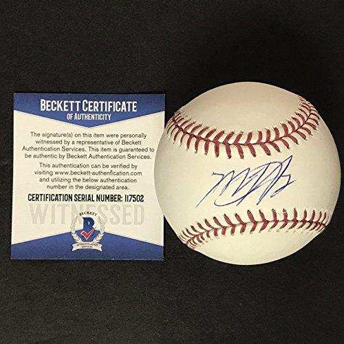 Autographed/Signed Matt Harvey Rawlings Official Major League Baseball ROML Beckett BAS COA Auto ()
