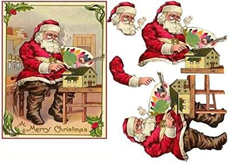 Immagini Babbo Natale Vintage.Vintage Di Babbo Natale In Officina Decoupage By Carol Smith