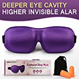 #9: AMAZKER 3D Sleep Mask Upgraded Invisible Alar & Deep Orbit Eye Mask for Sleeping Anti-fade Anti-bacterial Anti-mite Contoured Face Mask Blindfold with Ear Plugs Travel Pouch Best Night Eyeshade