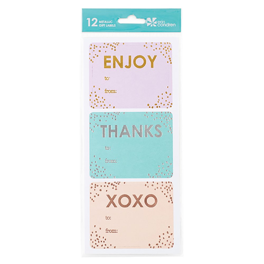 Erin Condren Everyday Metallic Gift Labels