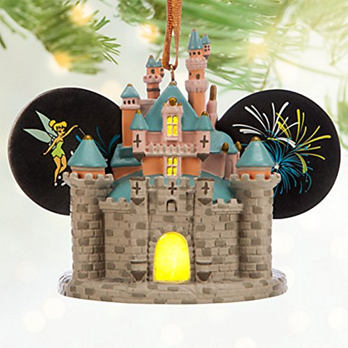 Sleeping Beauty Castle Light-Up Ear Hat Ornament - Disneyland (Fireworks Ornament)