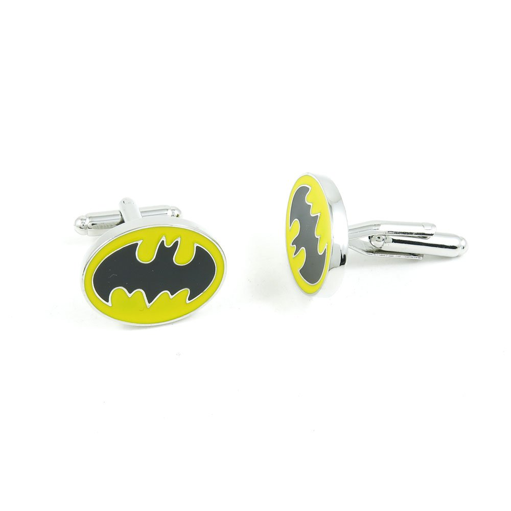 50 Pairs Cufflinks Cuff Links Fashion Mens Boys Jewelry Wedding Party Favors Gift IKH034 Black Bat Batman Vampire by Fulllove Jewelry
