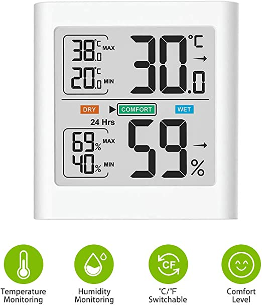 LCD Digital Medidor de Temperatura Termometro Higrometro Medidor de Humedad Hogar Interior